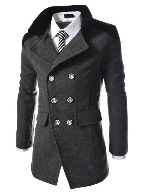 Men's Coats Stylish Turn-down Collar Comfort Warm - DARK GRAY L