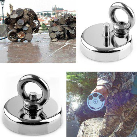 N38 D32mm 32KG Powerful Salvage Magnet - SILVER