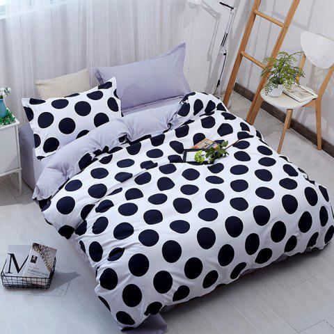 Free Dot Simple Fashion Bedding 4PCS - WHITE QUEEN SIZE