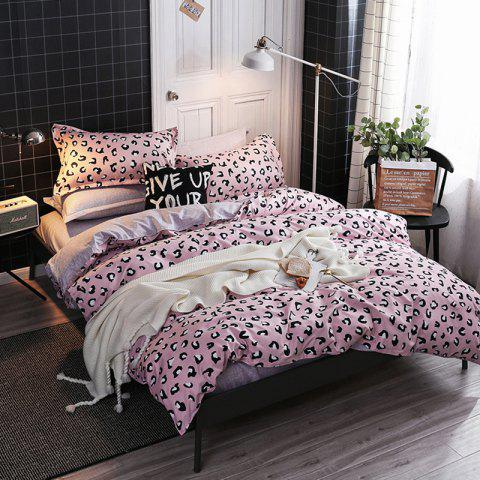 Pink Spotted Romantic Love Beddings 4PCS - PINK