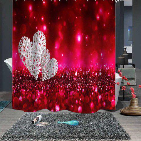 Valentine  's Day Boutique Romantic Beautiful Love Rideau - Rouge W79 X L71 INCH