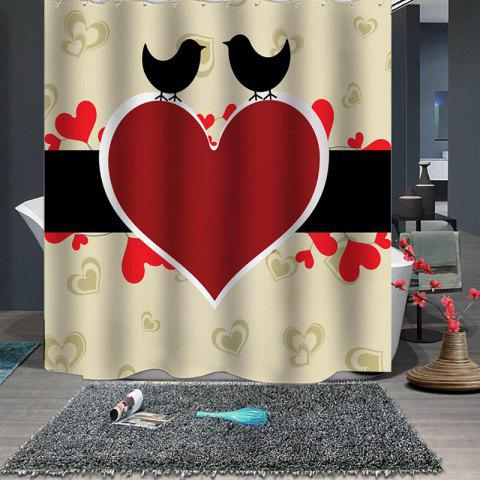 Rideau de douche Red Love 'Valentines Boutique - multicolor W79 X L71 INCH