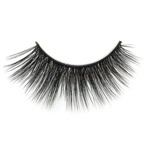 3D Mink Hair Thick Natural Handmade False Eyelashes 5 Pairs - BLACK
