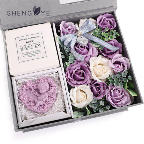 Chinese Valentine's Day Creative Soap Flower Rose Gift - MAUVE