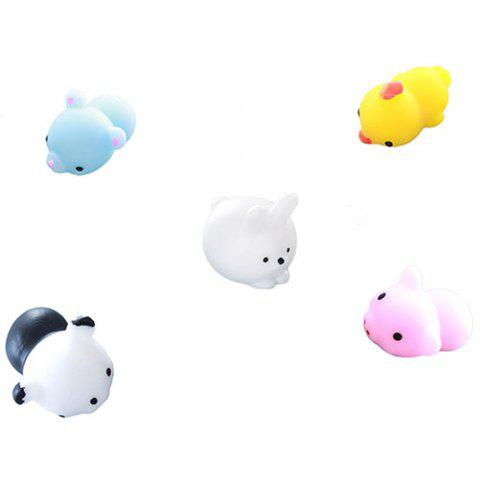 Cute Animal Squishy Toy 5pcs - multicolor