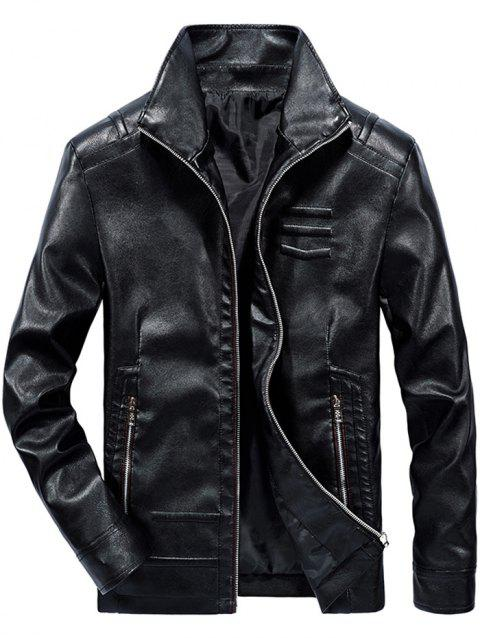 8606B528 Men's Leather Slim Jacket - BLACK L