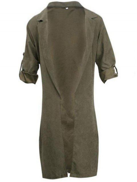 BA0280 Fashion Thin Long Sleeve Women's Trench - ARMY GREEN XL