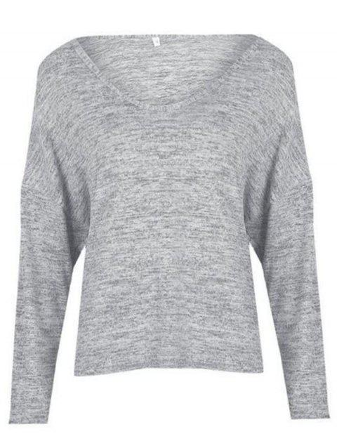 BA0242 Loose Turtleneck Women's T-shirt - LIGHT GRAY XL