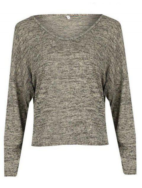 BA0242 Loose Turtleneck Women's T-shirt - LIGHT KHAKI L