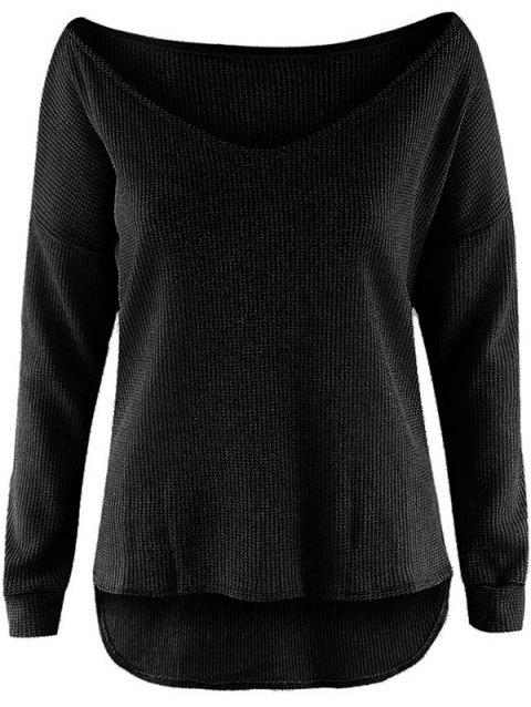 Stylish Lightweight Women's Pullover - BLACK M