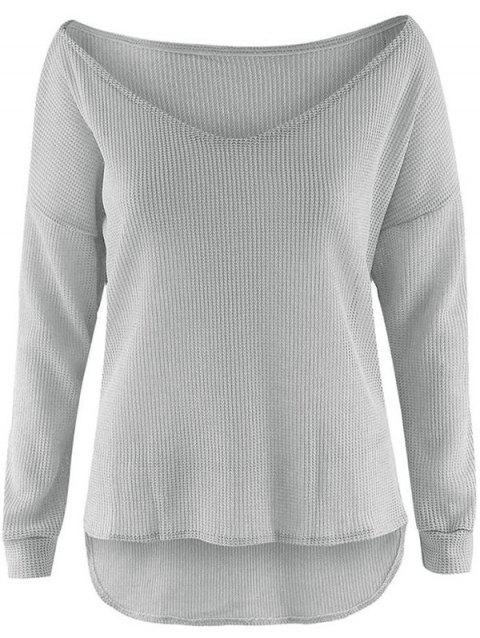 Stylish Lightweight Women's Pullover - GRAY M
