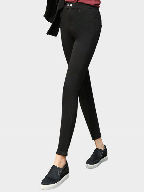 let's diet Plush Slim Fit Leggings - BLACK ONE SIZE