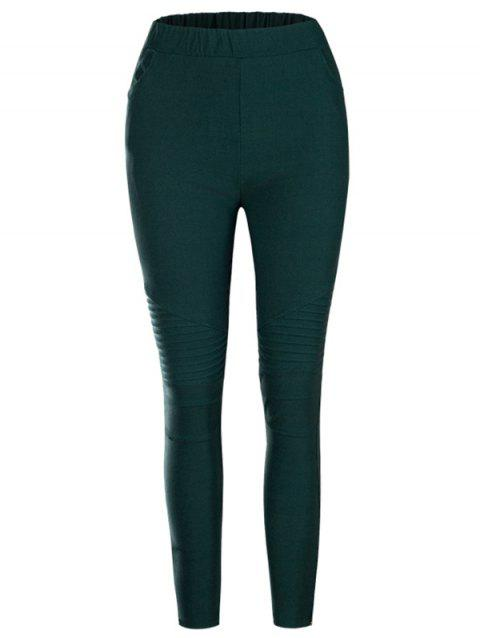 Fashion Casual Slim Tight Elastic Women's Pants - GREEN XL