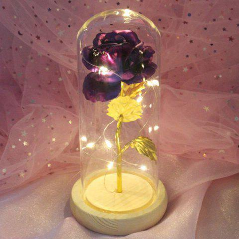Valentine Day Creative Gift Faux Gold Foil Rose Cover - MEDIUM ORCHID