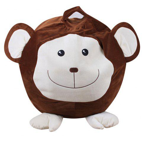 Animal Design Storage Bag Chair Household Items - DEEP BROWN