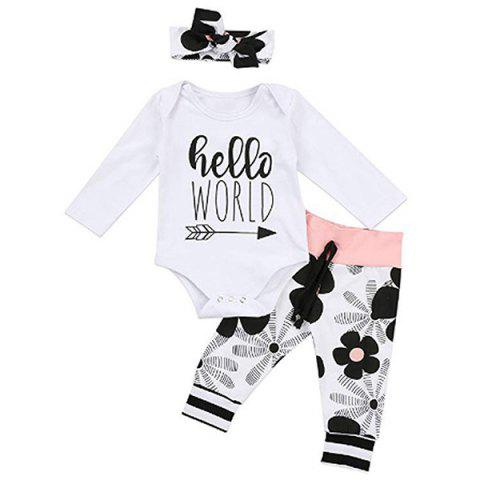 FT1102 Three-piece Baby's Cloghing Set - WHITE 70