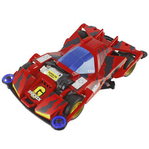 Unparalleled Mini Four-wheel Drive Assembled Car - multicolor A BIG RED