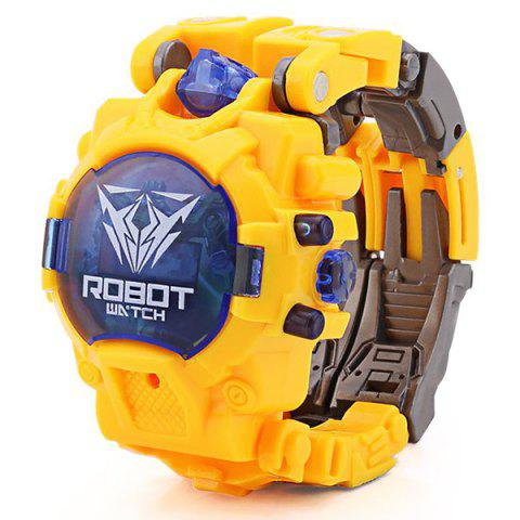 Creative Electronic Watch Deformation Toy for Children - GOLDENROD