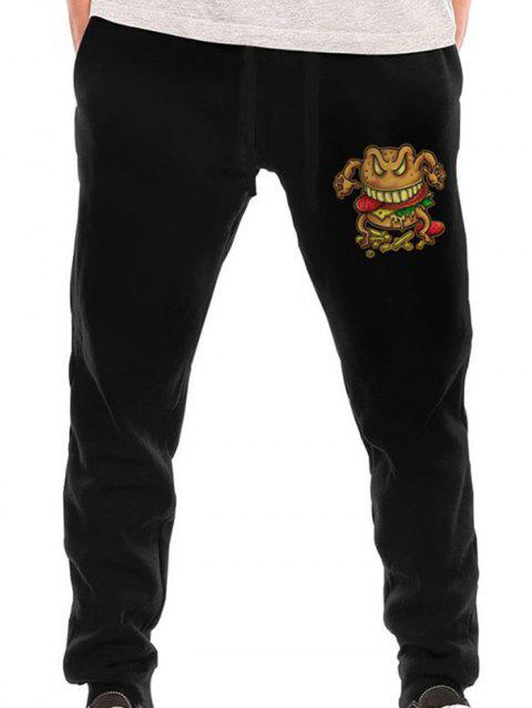 Men's Fashion Sports Long Pants - BLACK M