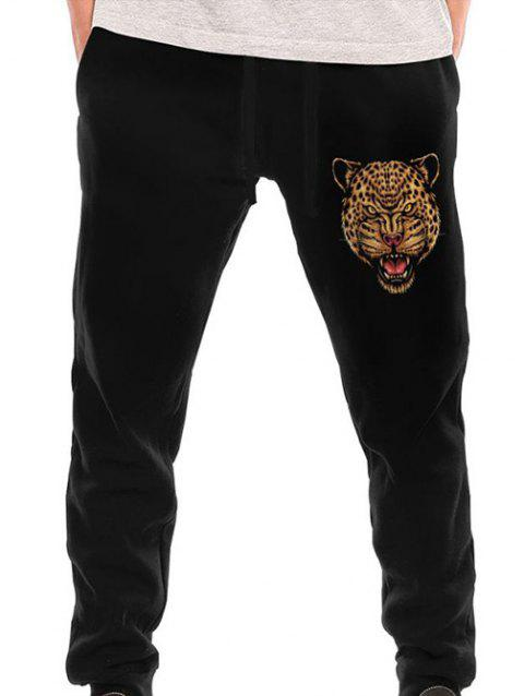 11008 Men's Back Pocket Cotton Sweatpants - BLACK 2XL