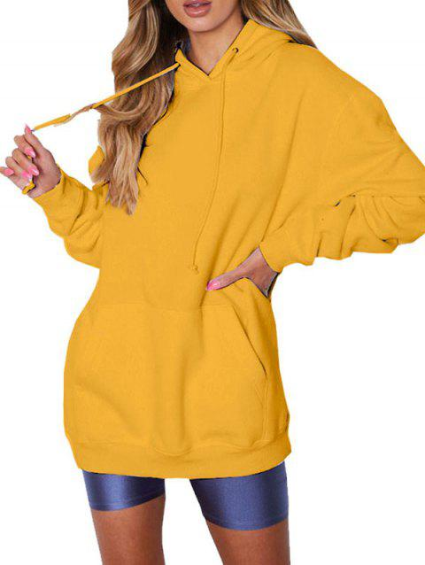 FC430 Women's Solid Color Casual Hoodie - RUBBER DUCKY YELLOW L