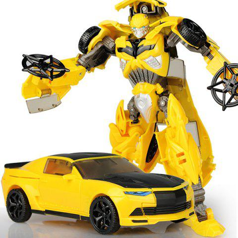 Transformed Toy Man Car Robot Model Gift - YELLOW