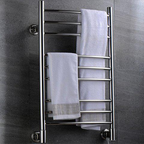 BAITHINF 304 Stainless Steel Trapezoidal Round Tube Electric Towel Rack - SILVER