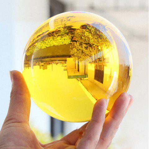Home Decoration Small Ornaments Crystal Ball - YELLOW 40MM