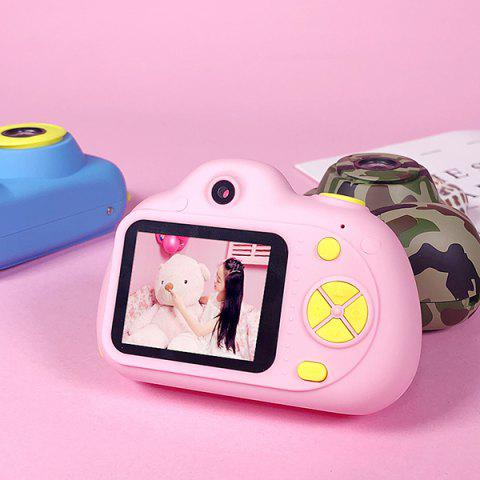Four Generations Children Mini Digital Camera Small Single-reflex Double Lens Sports Toy - PINK