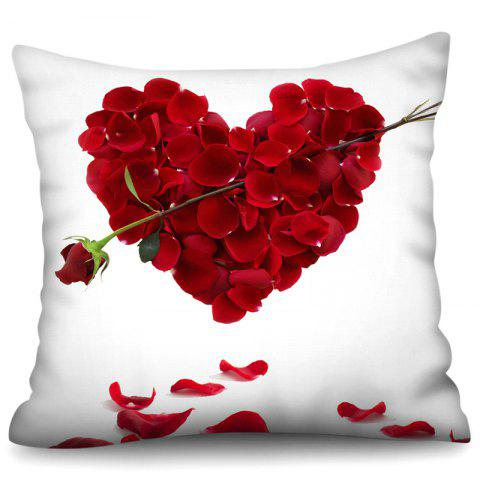 Polyester Faux Linen Digital Printing Hug Pillowcase 45 x 45cm - RED WINE W18 X L18 INCH