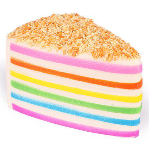 14 - P4212 - J01.4.24 High Simulation Toy Slow Rebound Scented Rainbow Triangle Cake - multicolor A