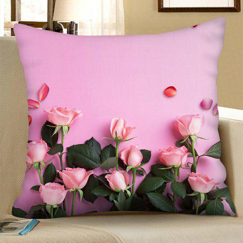 Polyester Valentine Day Series Square Digital Printing Pillowcase - PINK