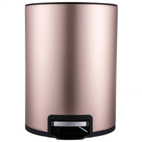 BATHINF High Quality 12L Stainless Steel Round Trash Can - CHAMPAGNE GOLD