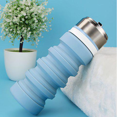Travel Convenient Multi-function Collapsible Water Bottle - SLATE BLUE