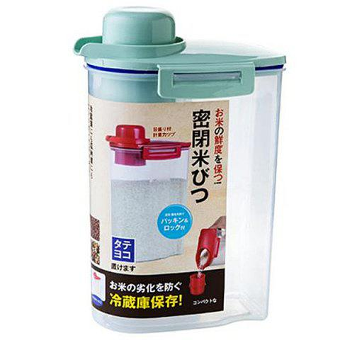 Rotating Cover Plastic Moisture-proof Sealed Storage Box - CYAN OPAQUE