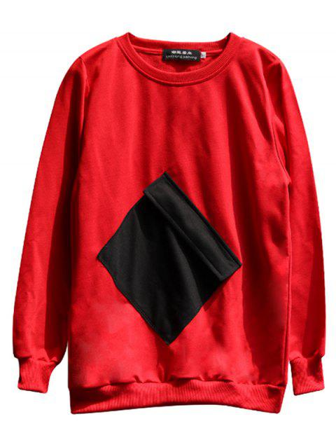 chaolongjushang GH - 8810 Spring Round Neck Hoodies - RED 2XL