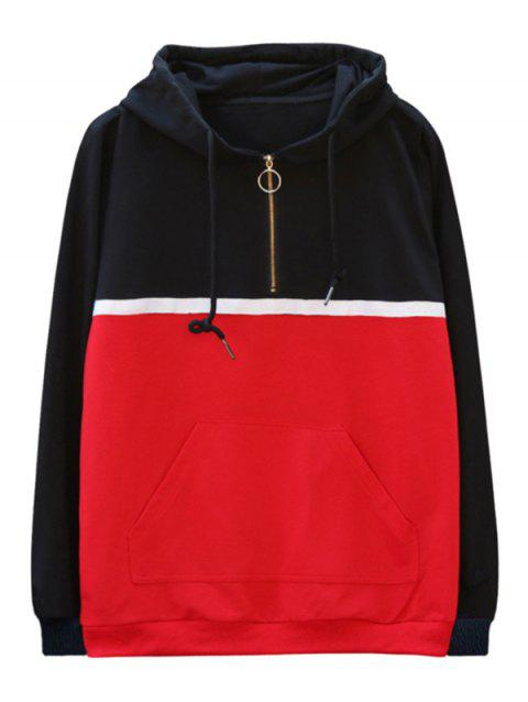 chaolongjushang GH - 8826 Spring Color Matching Hoodies - RED 2XL