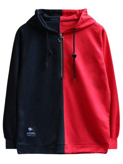 Chaolongjushang GH - 8822 Men Spring Color Matching Hooded Hoodie - BLACK M