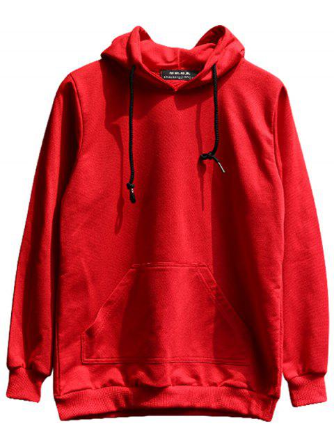 chaolongjushang GH - 8809 Spring Solid Color Hoodies - RED 2XL