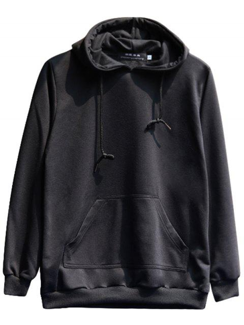 chaolongjushang GH - 8809 Spring Solid Color Hoodies - BLACK M