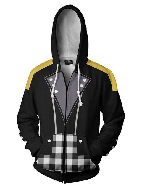 Men's Hoodie Printed Hooded Casual Personality - BLACK L