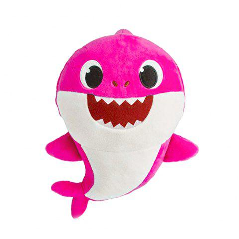 Cute Sing Electric Shark Plush Toy - NEON PINK