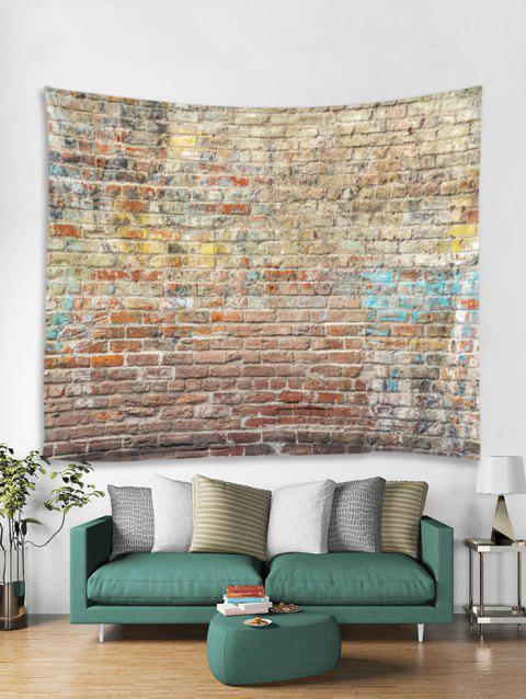 Brick Wall Printed Tapestry Art Decoration - multicolor A W91 X L71 INCH