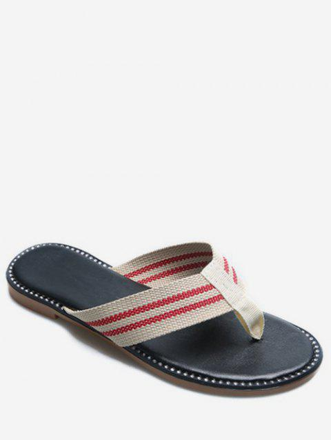 Striped Flip Flops - RED EU 41