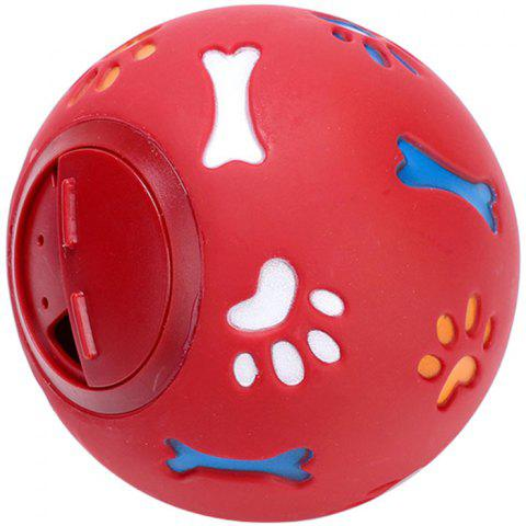 SQ60286 Bite-resistant Feeding Ball Dog Toy - RED S