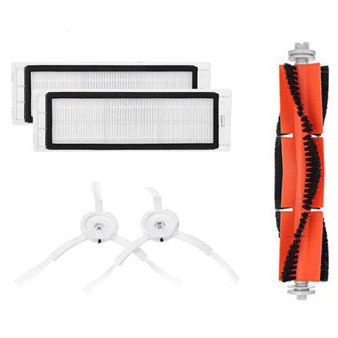Sweeping Robot 2 Generations Stone S50 / S51 Ground Brush Set for Xiaomi - WHITE