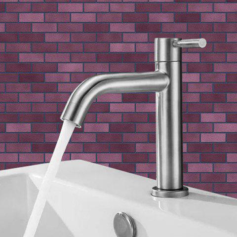 Single-connected 304 Stainless Steel Wash Basin Single Cold Faucet - SILVER