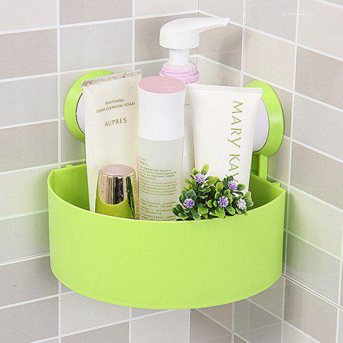 Triangle Suction Cup Bathroom Storage Rack - GREEN