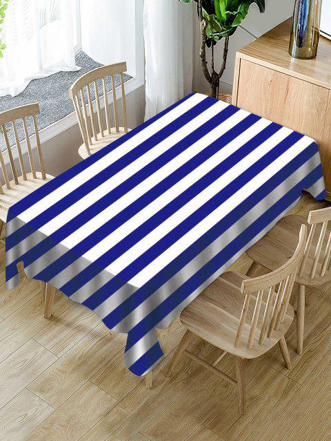 Striped Print Fabric Waterproof Tablecloth - multicolor W60 X L84 INCH