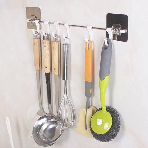 Practical Stainless Steel Seamless Hook - SILVER